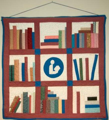 Library Quilt by Prairie Quilter
