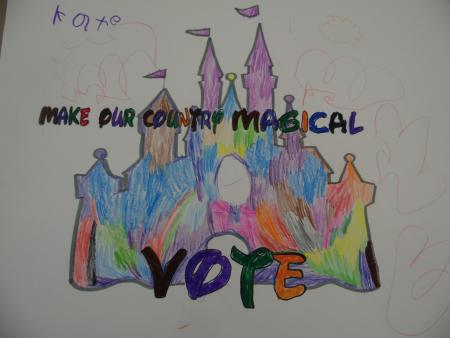 A-colorful-drawing-of-a-castle-in-the-background-with-a-smile-right-in-the-center.-The-words-