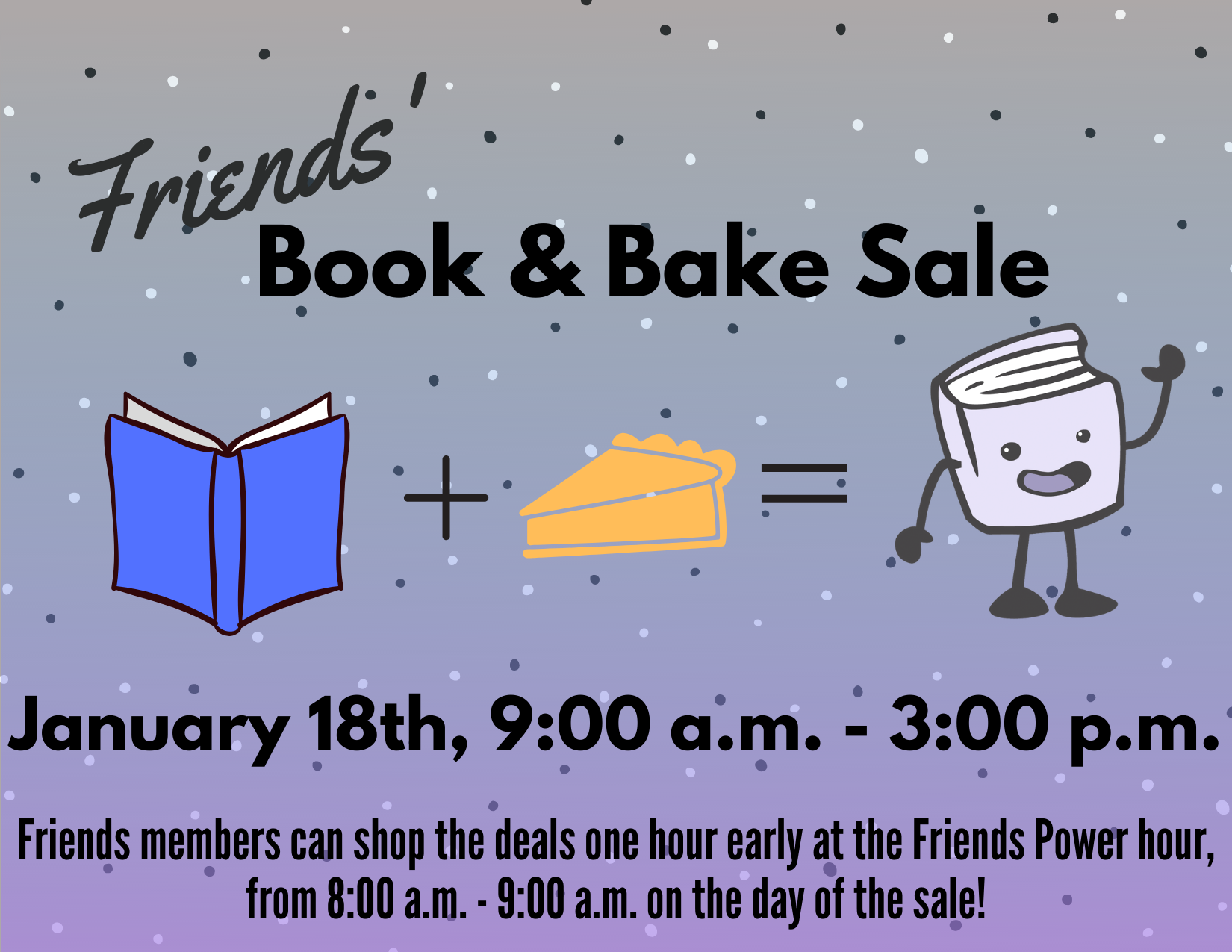 Friends book and bake sale 2020